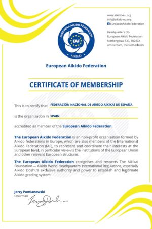 EAF Membership Certificate