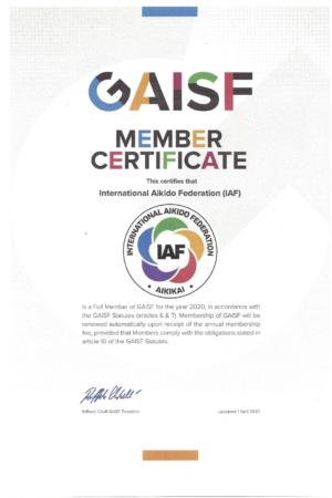 IAF 2020 Certificate